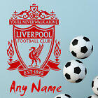Liverpool FC Football Wall Stickers Wall Art Decal PERSONALISED NAME STICKER N60