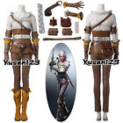 Game Witcher Wild Hunt Cirilla Cosplay Clothing Full Set Ciri Fancy Dress
