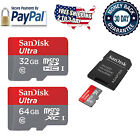 Mini SD Card 32GB 64GB Class 10 with Adapter SanDisk Fast Micro Ultra Memory