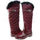 Michael Kors Womens Fulton Quilted Buckle Strap Cold Weather Tall Rain Boots