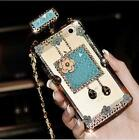 Fashion Bling Crystal Back Cover Case Luxury Perfume Bottle For iPhone & Samsung
