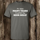 Perfect My Beer Belly T Shirt -- Clothing Funny Beer Belly Mens Womens Tee Ale