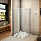 Aica Frameless Double Bi Fold Shower Door Enclosure Tray 700/760/800/900/1000mm