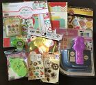 2/3 OFF $120-140 Retail Scrapbook Lot Paper Cricut Punch Adhesive Embellishment