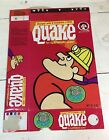 1960s Quake miner vintage cereal box Quisp * Glow in the Dark Stickers offer *