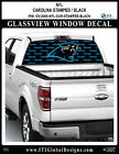 CAROLINA PANTHERS - STAMPED BLACK Window Wrap / Truck Car SUV Decal Sticker NFL