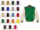 Faux Leather Sleeve Letterman College Varsity Men Wool Jackets #CRSL-ORSTR-CB-FL