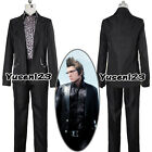 Final Fantasy XV Ignis Stupeo Scientia Cosplay Costume ComicCon Iggy Black Suit