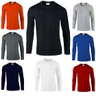 Gildan Mens Soft Style Premium 100% Cotton Long Sleeve T-Shirt Tshirt Tee Top