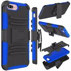 IPHONE 7 ARMOR BELT CLIP HOLSTER CASE COVER BLUE