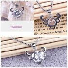 Fashion Exquisite 1Pc Constellations Shining Fine Silver Crystal Necklace 925