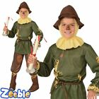 Kids Official Scarecrow Fancy Dress Costume Wizard of Oz Boys Book Week Age 4-10