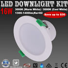 1/6X 16W Dimmable LED DOWNLIGHTS KITS 120mm Cuts Warm/ Cool White Ceiling Lights