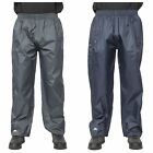 Trespass Qikpac Men Women Waterproof Trousers in Black and Navy