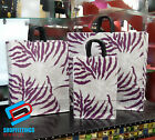 PAPER CARRIER BAGS TWISTED HANDLE HIGH QUALITY GIFT BOUTIQUE BAGS PURPLE ZEBRA