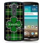 PERSONALIZED ST PATRICKS DAY RUBBER CASE FOR LG G3 G4 G5 CLOVER GREEN IRISH
