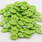 R 100PCs Candy Colors Round Resin Sewing 2 Holes Buttons Embellishment Newest