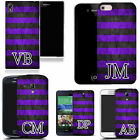 PERSONALISED INITIALS SILICONE CASE FOR MANY MOBILES - purple groove  GEL