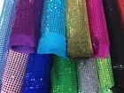 SEQUIN FABRIC 6MM ROUND Dress Sparkly Fancy Dress Costumes Material Shiny 112CM