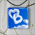 LOVE MADE WITH CLOUDS PENDANT NECKLACE 3 SIZES CHOICE -hnj7Z