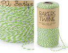 Lime Green & White Duo 4-ply 100% Cotton Baker's Twine *Your Choice of Length*