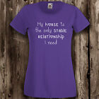 Stable relationship ladies t shirt horse riding equine pony womens equestrian