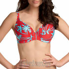 Freya Swimwear South Pacific Deep Plunge Bikini Top Red NEW 3552 Select Size