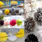 "30X Tissue Paper Pom-Poms  4"" 8"" 12""  Flower Wedding Party Home Outdoor Decor"