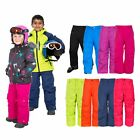 Trespass Contamines Kids Waterproof Ski Pants with Braces for Boys & Girls