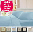 4 Piece Bed Sheet Set Deep Pocket 6 Color 5 Size Available New image