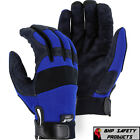 Work Gloves - MAJESTIC GLOVE ARMORSKIN 2137BL SYNTHETIC LEATHER MECHANICS WORK GLOVES SXL