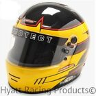 Pyrotect Pro Airflow Auto Racing Helmet SA2015 - Yellow Rebel Graphic