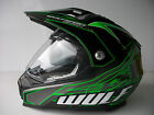 Wulfsport Green Dual Sport Sun Visor Streetfighter Road Helmet Road Legal ZXR ZX