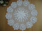 """Hand Crochet Cotton Flower 15"""" Round Table Topper Doily Tray Cloth Centerpiece"""