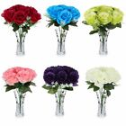 10 Head Fabric Artificial Rose Flowers wedding And Home Design Bouquet Decor