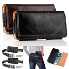 A5 size inch - FOR APPLE IPHONE 7 6 6S PLUS GENUINE LEATHER CASE HOLSTER BELT CLIP POUCH, NEW!