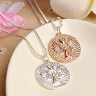 Double-faced Guardian Angel Pendant Necklace Collar Girls Gifts Women Necklaces