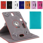 Universal Leather 360 Rotate Flip Stand Case Cover For 7 8 9 10.1 Inch Tablet PC