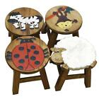 Apollo Kids Wooden Animal Foot Stool Ladybird Monkey Sheep Zebra 4 Designs Gift