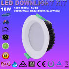 AUS 1/6X18W Recessed LED Ceiling White Lamp Downlight Kit 120mm Cutout Warm Cool