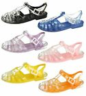 SALE Spot On F0892 Ladies Pink 90's Style Retro Jelly Sandals, Beack, Festivals