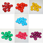 12 Bright Circular Coated Czech Beads size 14mm - Variety of Colours