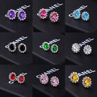 9 Colors Oval Creative Crystal Zircon Stud Earrings For Women Girls Party Gifts
