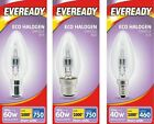 10 Pack Eveready Eco Halogen Clear Candle Light Bulb E14 B15 B22 Energy Saver