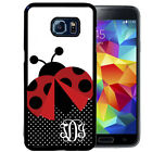 MONOGRAMMED RUBBER CASE FOR SAMSUNG NOTE 3 4 5 LADY BUG POLKA DOTS