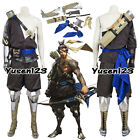 OW Overwatch Hanzo Cosplay Costume Samurai Style Clothing Comic-Con Full Outfit
