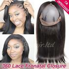 "10""-18"" 360 Lace Frontal Closure Malaysian Virgin Human hair Pre Plucked US F41"
