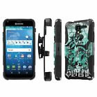 Kyocera [Hydro View / Reach] Armor Case [KickStand/Holster/Screen Guard] - B