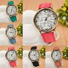 5 Colors New Fashion Men Women Belt Strap English Leather Quartz Wristwatch