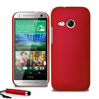 For HTC One Mini 2 II Armour Hard Shell Case Back Cover + Screen Film + Stylus